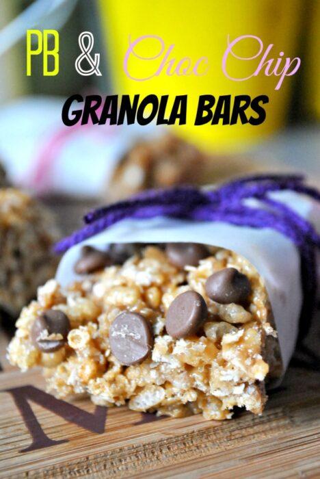 PB & Choc Chip Granola Bars