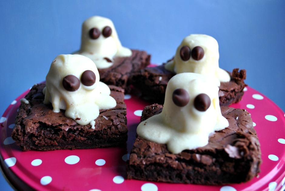 Halloween recipe : Ghastly Ghost Brownies
