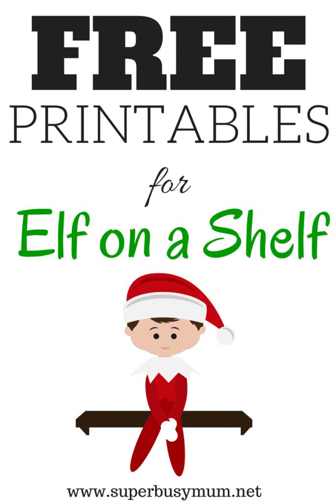Christmas: Free 'Elf on a Shelf' Printables