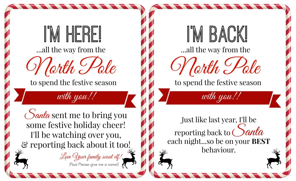 Christmas: Free 'Elf on a Shelf' Printables