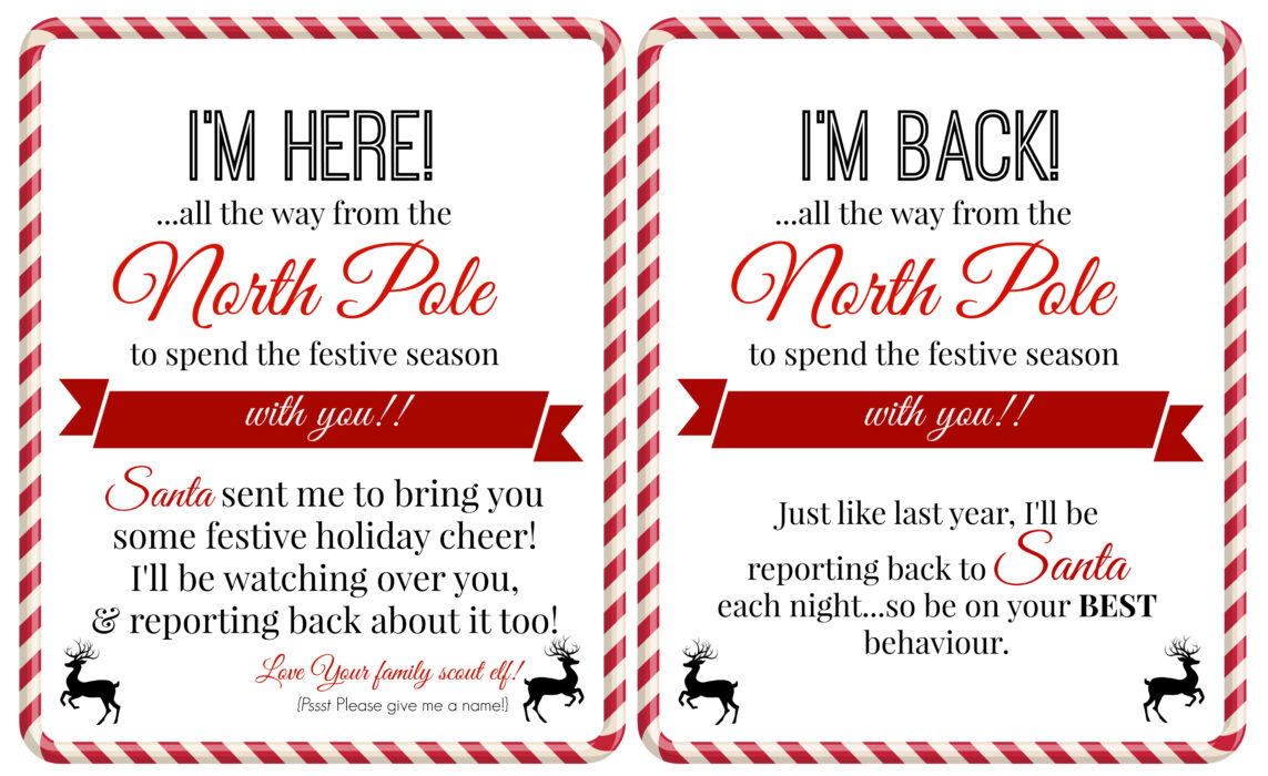 free elf on a shelf printables