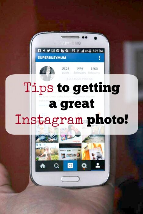 tips to get a great Instagram photo