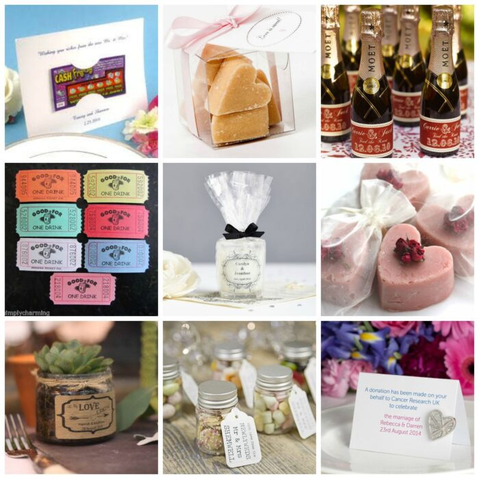 top ten wedding favour ideas