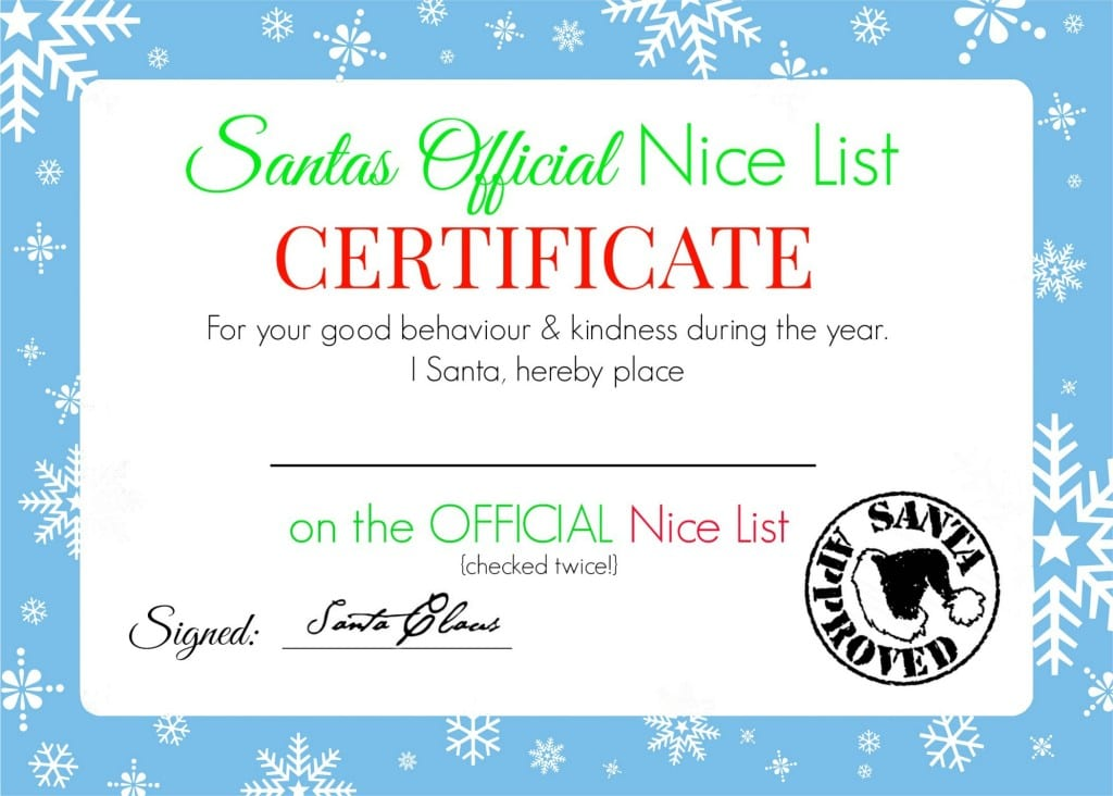 Santa cert 2