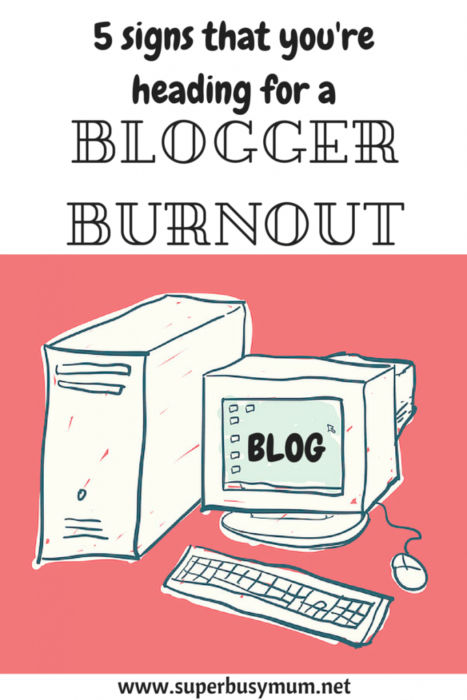 6 signs of a blogger burnout