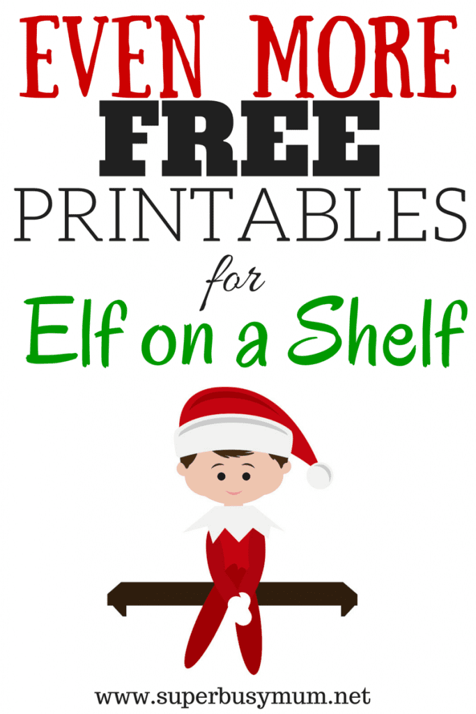 elf on a shelf FREE printables