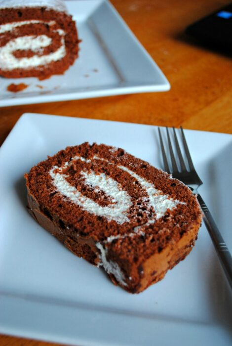 Chocolate Swiss roll - recipe