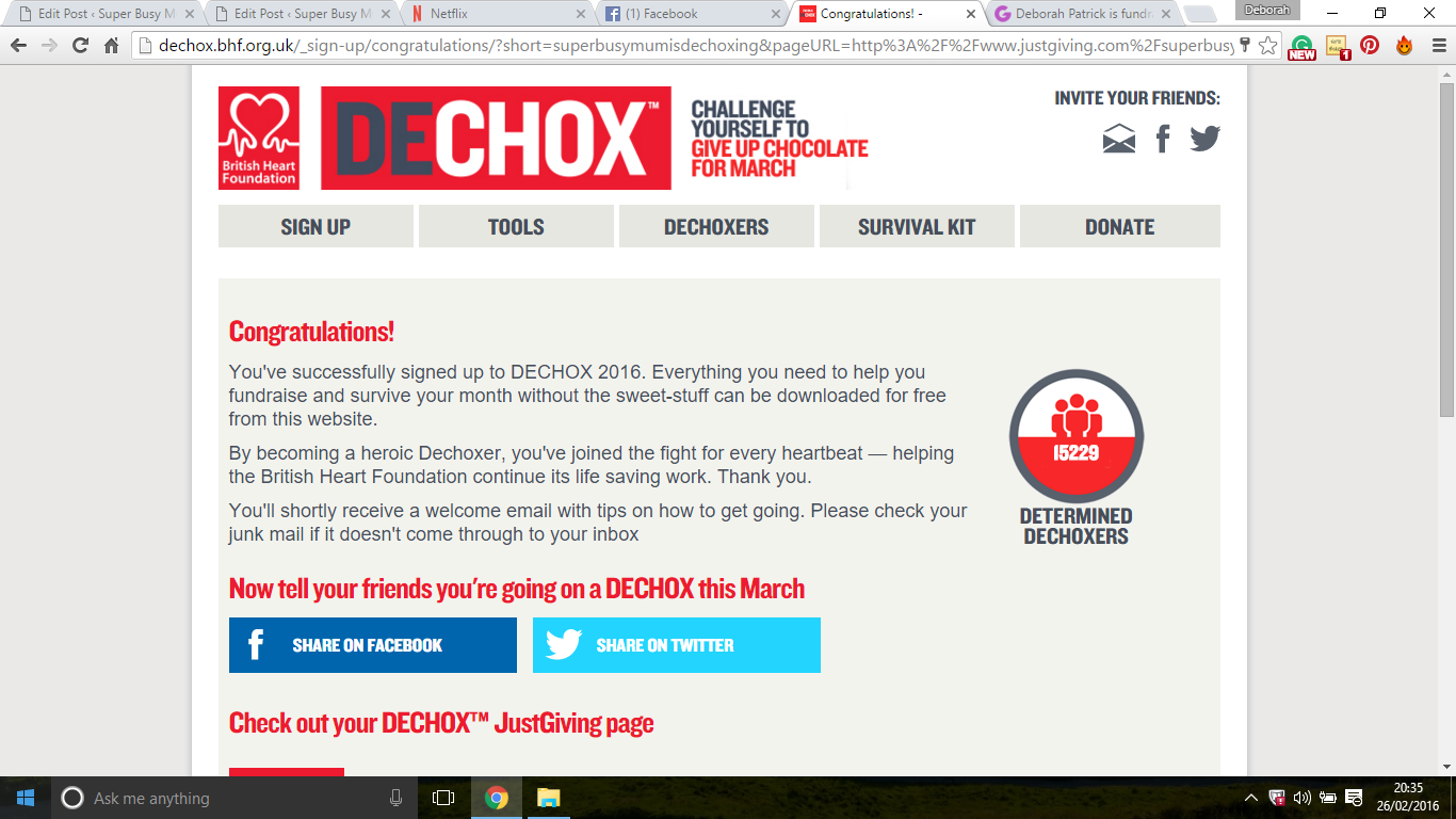 Dechox with the british heart foundation