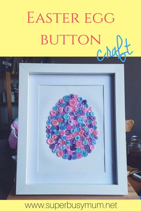 Easter egg button craft