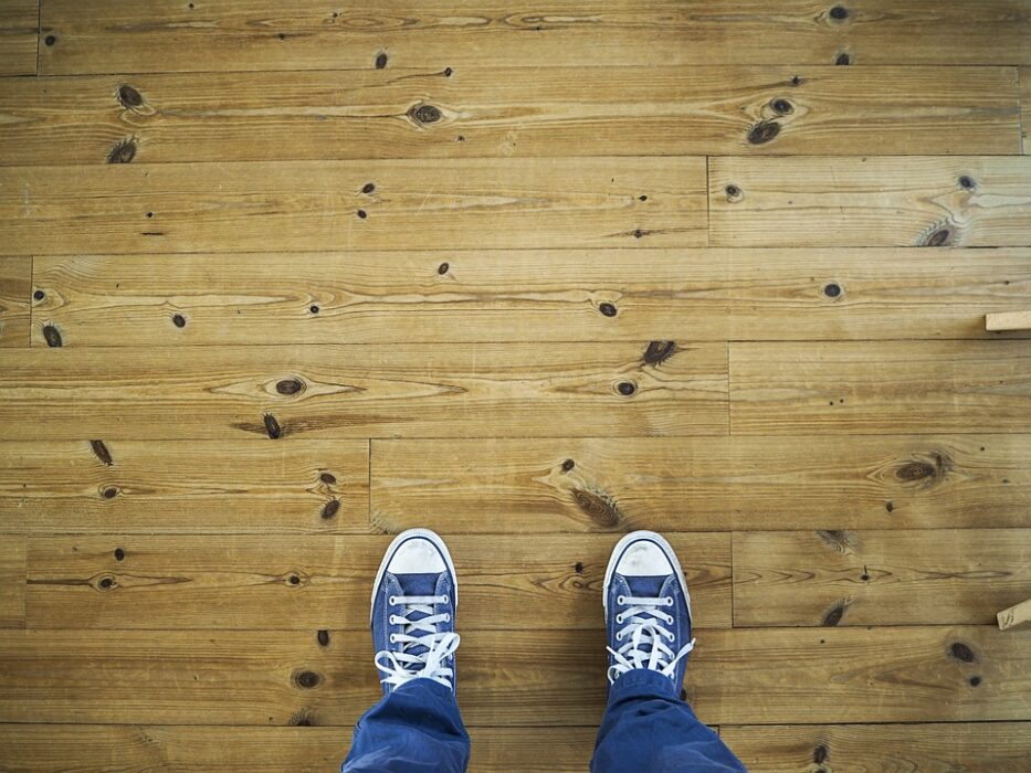 feet, shoes, laminate flooring