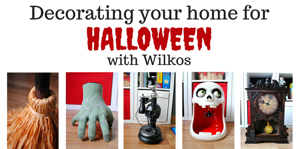 Decorating the house for Halloween with Wilkos Super