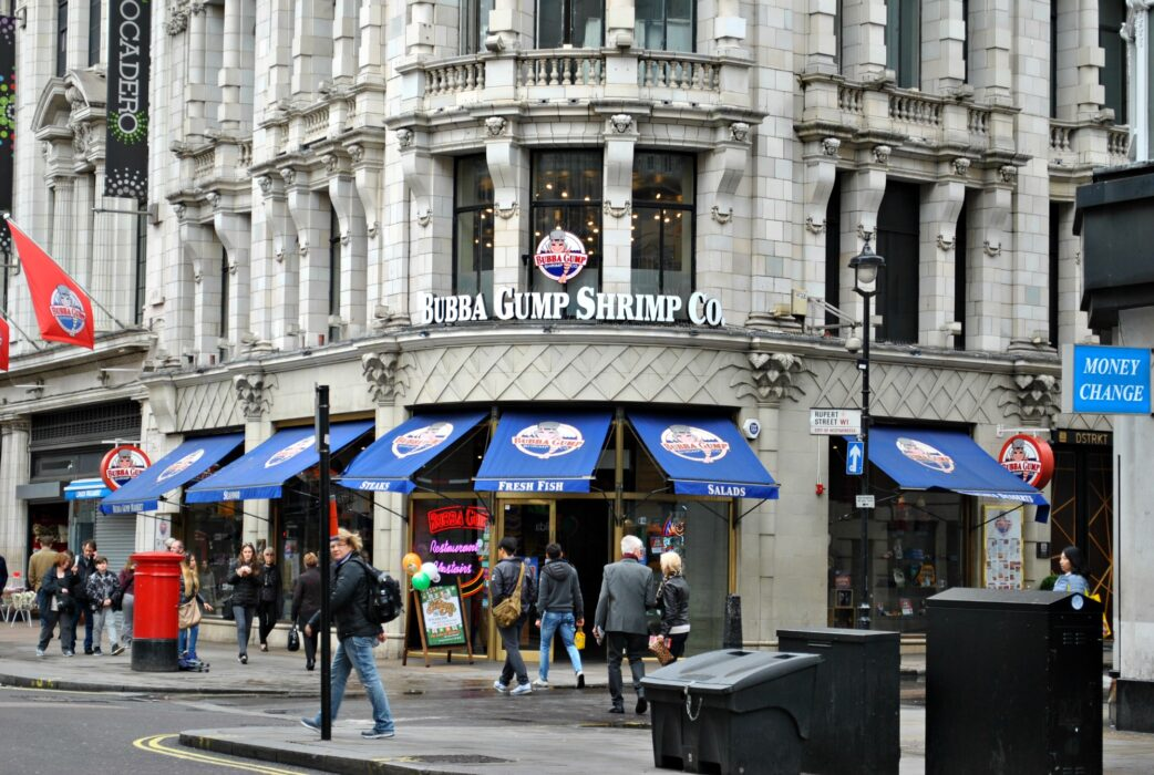 Bubba gump Shrimp in London