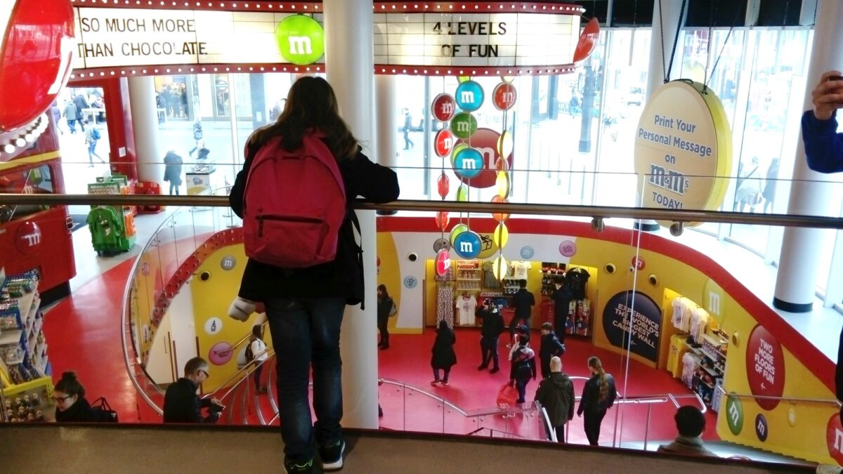 M&M store in Leicester square, London