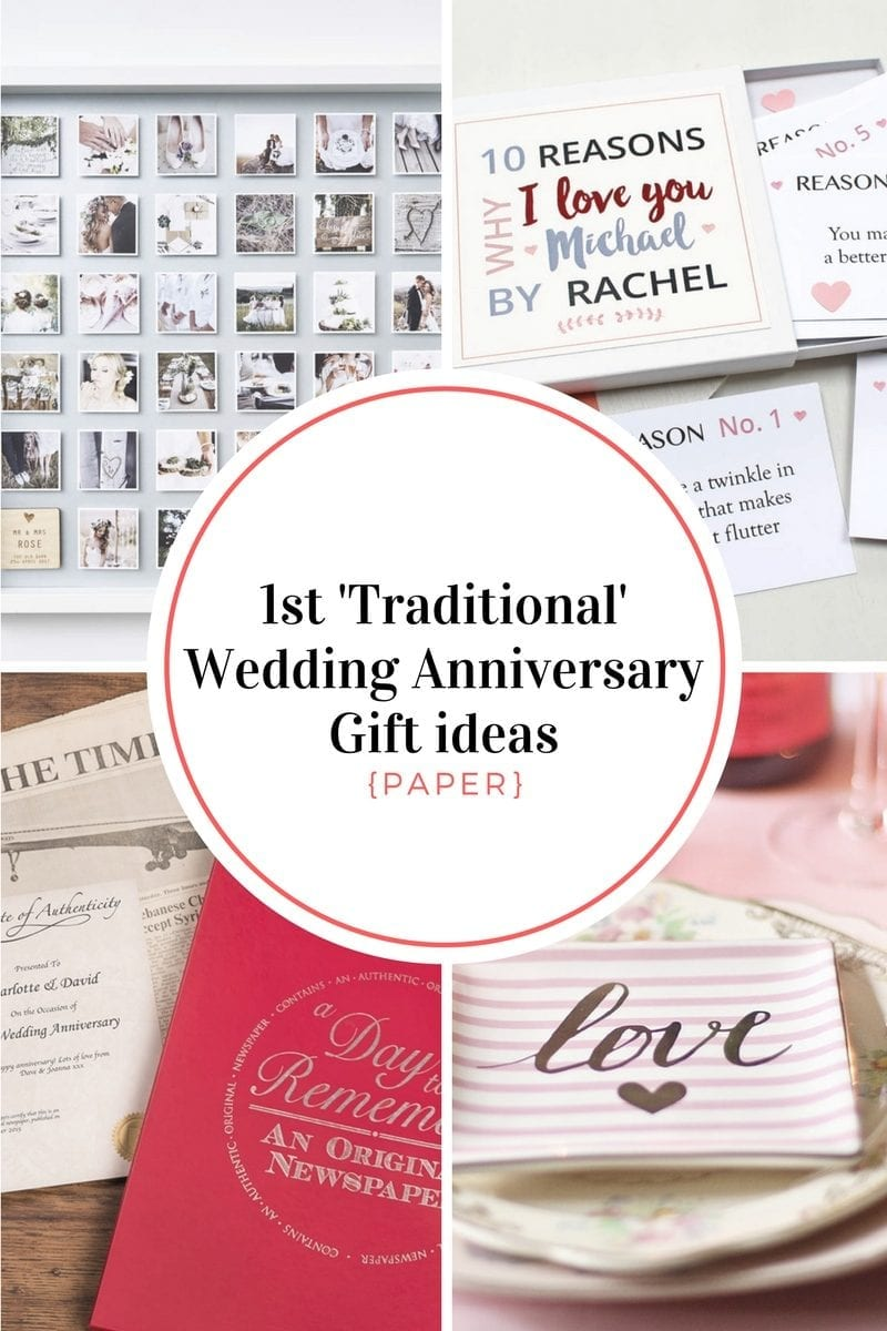 1st traditional Wedding Anniversary Gift ideas {Paper} - Super Busy...
