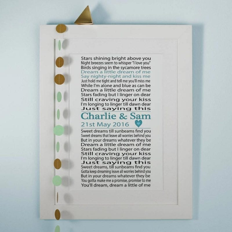St 'traditional wedding anniversary gift ideas paper