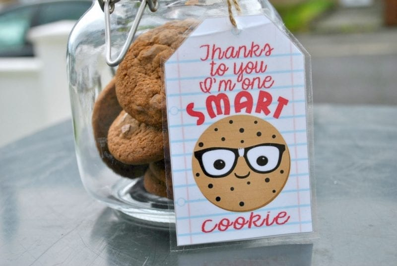 "Gifts for Teachers - A quick, simple & cheap DIY gift for a Teacher. ""Thanks to you I'm one smart cookie"" printable tag is available on the post too. Pop over & check it out!"
