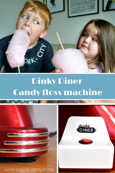Dinky diner candy floss maker - Pinterest graphic