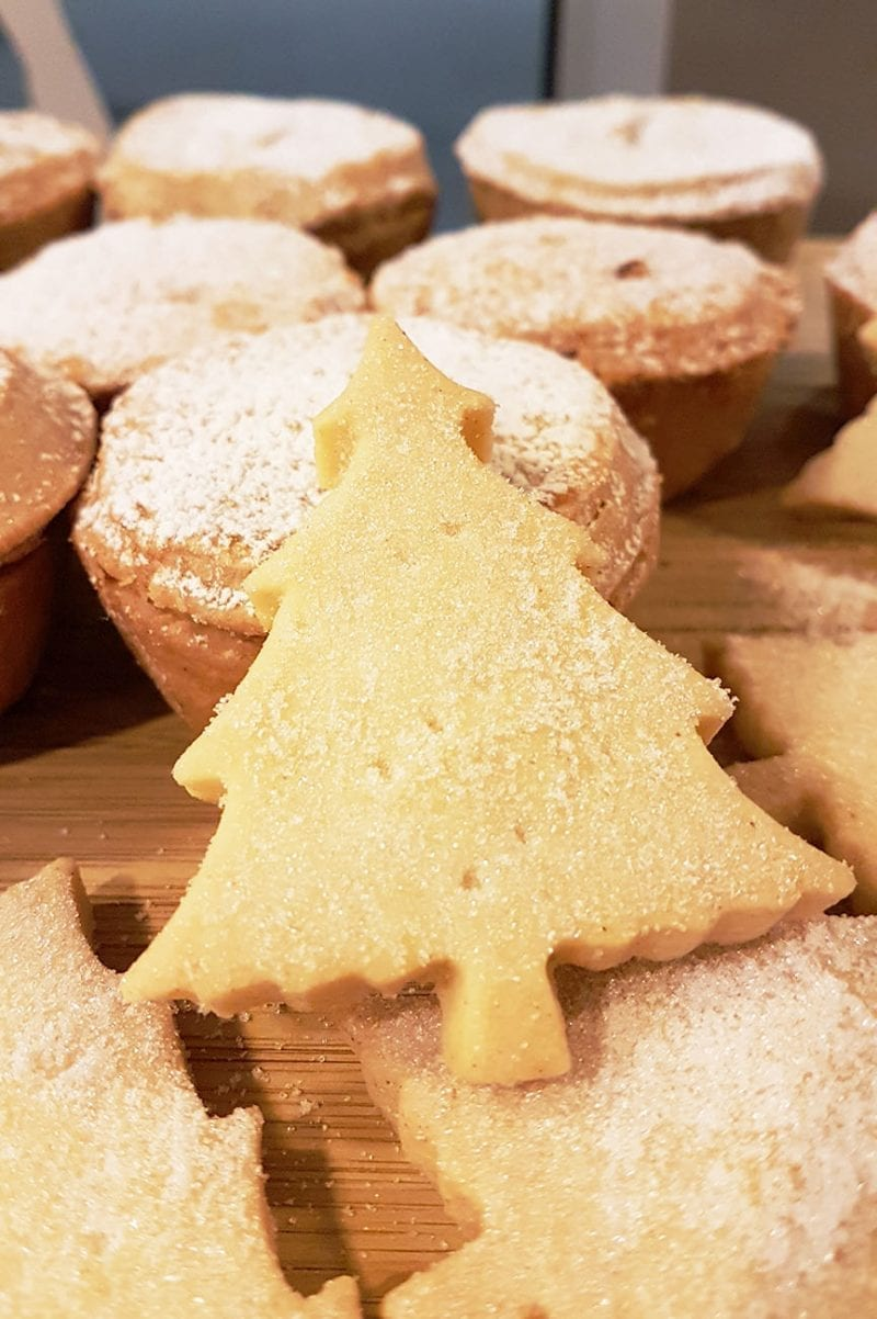 Christmas tree shortbread