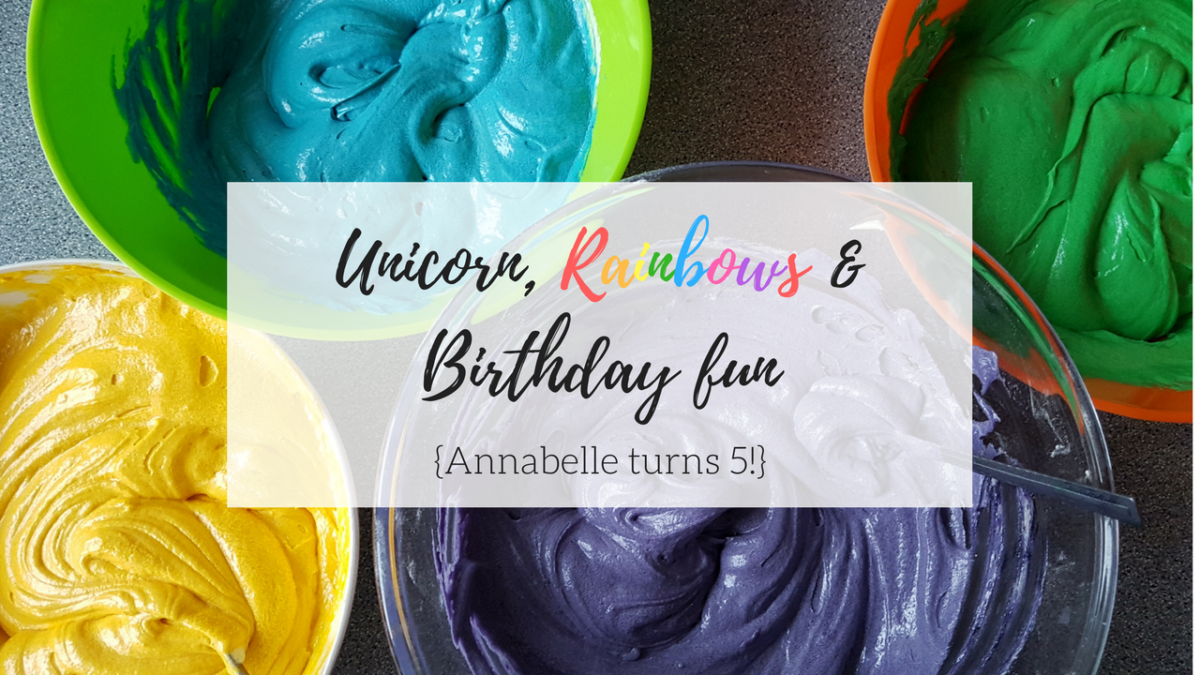 Annabelles Unicorn Rainbow birthday party