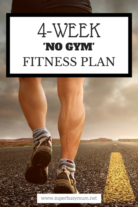 4-week Fitness plan - Pinterest image
