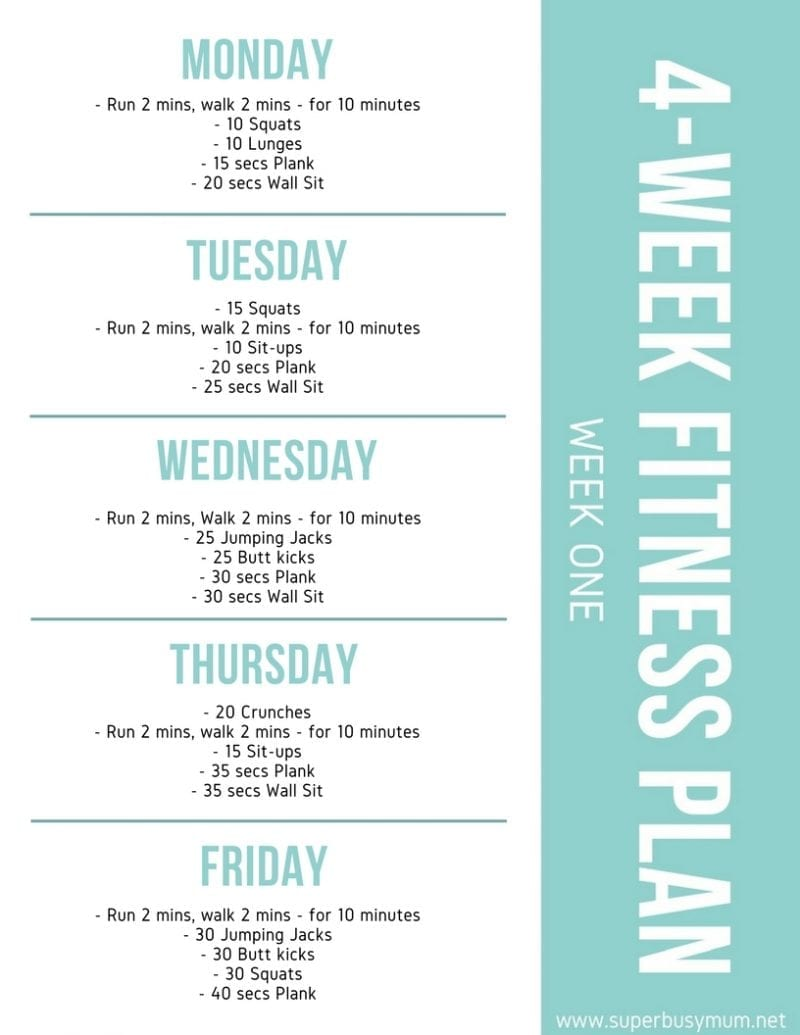 My 4 Week No Gym Fitness Plan Super Busy Mum