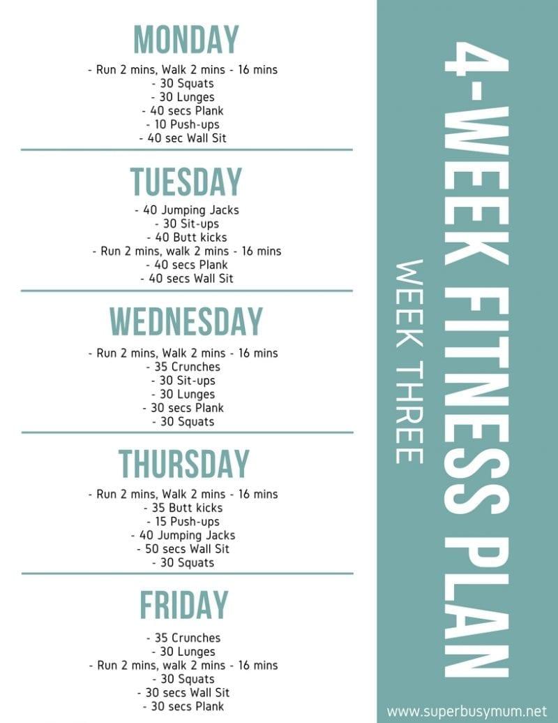 Week three - 4-week Fitness plan
