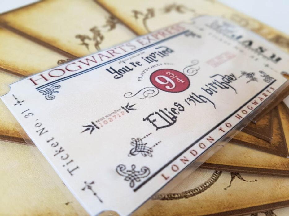 Hogwarts Express birthday invitation