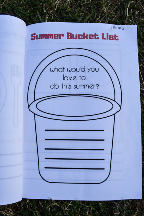 Summer Journal Free Printables