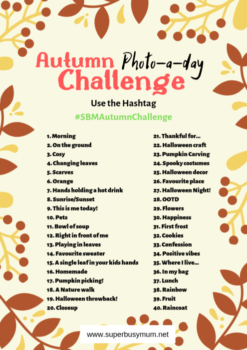 Autumn Challenge Printable