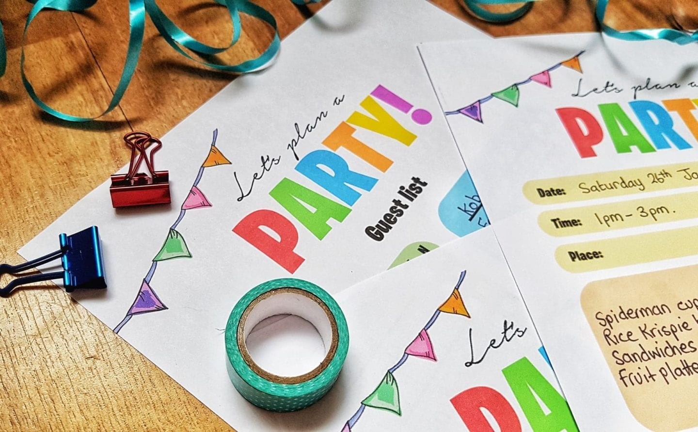 Let's plan a party! | Free Party Planner Printables